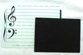 Magnetic Wipe and Clean Music Theory Board (Double Sided) with Music Notes Magnet