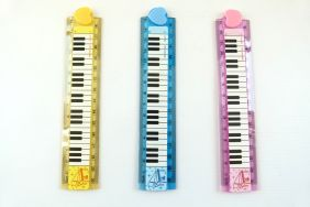 Music Themed 3 pieces Keyboard Design Foldable 30cm Rulers