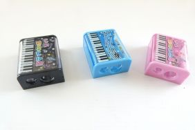 Music themed 3 pcs Piano Musical Notes Design 2 Hole Blades Pencil Sharpener