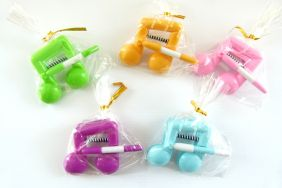 Music Themed 5 pieces Pastel Colour Beam Note Clip with Pen