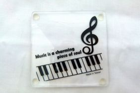 Music Themed Acrylic Coaster - Music is a charming piece of soul