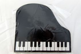 Music Themed Black Piano Shape Mouse Pad