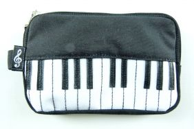 Music Themed Keyboard Design Pouch/ Phone bag