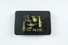 Music Themed Business Cards Holder Plastic Case