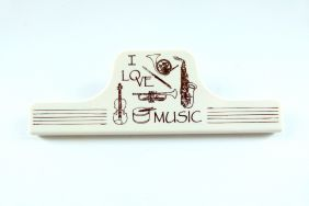 Music Themed Music Instruments Design White Large Clip