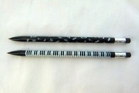 Music Themed Musical Note and Keyboard Desgin Mechanical Pencil with Eraser Top (2 pencils)