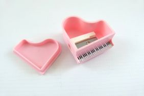 Music Themed Pink Piano Shape Pencil Sharpeners