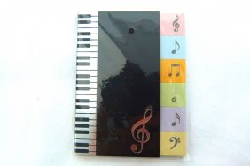 Music Themed Treble Clef Cover - 6 colours Self-Stick Sticky Notes (30 sheets each)