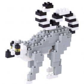 Kawada Micro-sized building block nanoblock - Ring Tailed Lemur
