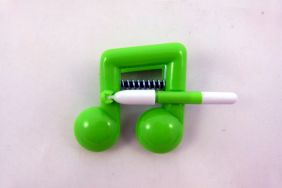 Music Themed Bright Colour Beam Note Clip with Pen - Green