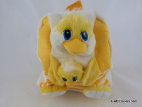 PartyErasers Kawaii Baby Childrens Toddlers Cute Animal Backpack Rusksack (Yellow Chicken & Chick Design)