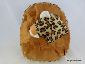 PartyErasers Kawaii Baby Childrens Toddlers Cute Animal Backpack Rusksack (Zoo Animal Leopard Design)
