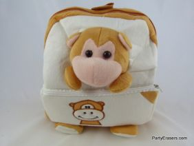 PartyErasers Kawaii Baby Childrens Toddlers Cute Animal Backpack Rusksack (Monkey Design)