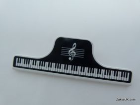 PartyErasers FunMusic Black Keyboard Music Theme Large Paper Clip