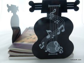 PartyErasers FunMusic A Pair of Black Cello Shape Metal Bookend