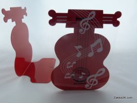 PartyErasers FunMusic A Pair of Red Cello Shape Metal Bookend