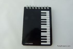 Small Spiral Bound Black Piano design notebook Size:8x10.5cm