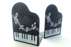 PartyErasers FunMusic A Pair of Grand Piano Shape with Musical Note Book Stand Pair