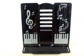 PartyErasers FunMusic 6 Adjustable Angles Black Table Book Stand