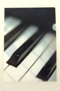 PartyErasers FunMusic Black and White Piano Keys Design A4 Plastic Folder