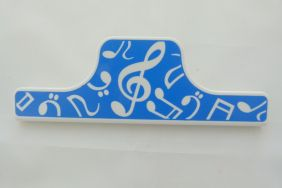 Music Themed 15cm Large Paper Clip - Blue Music Design
