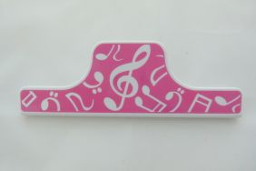 Music Themed 15cm Large Paper Clip - Pink Music Design