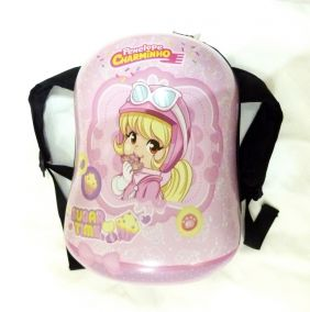 "Pink Sweet Girl Shape Hard Shell Children Backpack (13"")"