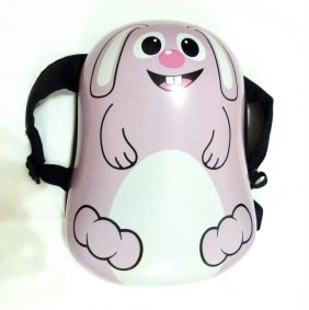 "Pink Bunny Shape Hard Shell Children Backpack Toddler Size Bag (13"")"