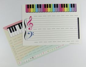 Wipe and Clean Music Theory Card with Chinese Characters (2 sided)