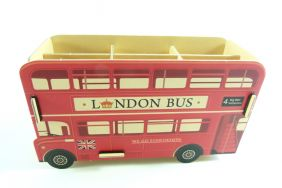 DIY Board Box with Compartments - London Bus