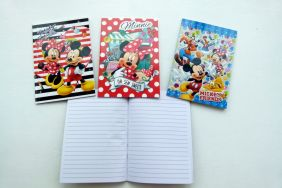 PartyErasers Pack of 3 Disney Mickey Mouse 15 sheets B6 Lined Notebooks (3 Cover Design)