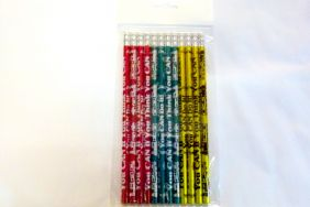 Pack of 12 pcs HB Pencils - 3 assorted You Can If You Think You Can Themed with Eraser on top from USA