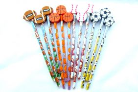 Pack of 12 pcs HB Pencils - Sport Blasters Themed with detachable Eraser top from USA