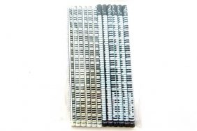 Pack of 12pcs Music Themed Black and White Keyboards HB Pencils (2 Designs)