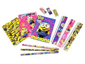 Party Bags Pack of 12 Minion 4 pieces stationery set (12 packs)
