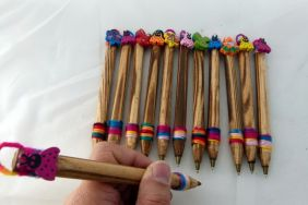 1 Piece Wooden Pen with Insect Shape Top Novelty Pen (1 Piece ONLY - RANDOM COLOUR!)