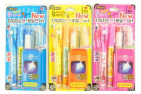 Party Bag Pack of 3 Kawaii Stationery Set - Invisible Pen with checker light and Ink Pen Sets