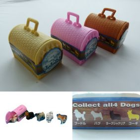 Party Bag Pack of 3 Won Won Dog 4D Puzzle in Pink/Yellow/Brown Cage Blind Box Sets