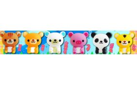 Party Bag Pack of 6 Bathtime Rubber Squeaky Cute Animal Sets