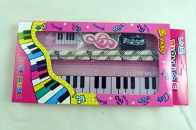 Music Themed Pink Pencil Case Love Music Stationery Set