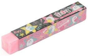 Q-Lia Long Stick Eraser from Japan - Ghost star Pattern