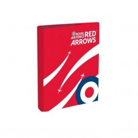 Royal Air Force Red Arrows A4 Ring Binder - Red with RAF Roundel Design