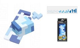 Seed Puzzle and Craft (12 pieces super level) Cube Eraser from Japan