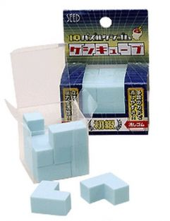 Seed Puzzle and Craft (9 pieces beginner level) Cube Eraser from Japan