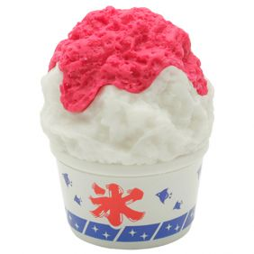 Iwako Desserts: Strawberry topping shave ice flake cup Eraser