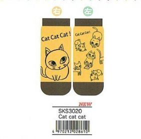 Shinzi Katoh A Pair of Ladies Socks (Women's Socks) - Cat cat cat Design