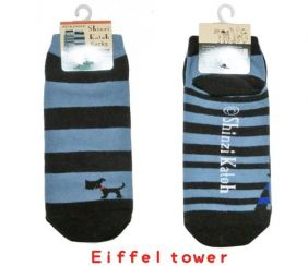 Shinzi Katoh A Pair of Ladies Socks (Women's Socks) - Eiffel tower Design