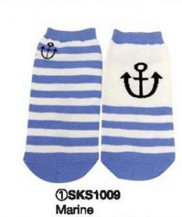 Shinzi Katoh A Pair of Ladies Socks (Women's Socks) - Marine Design
