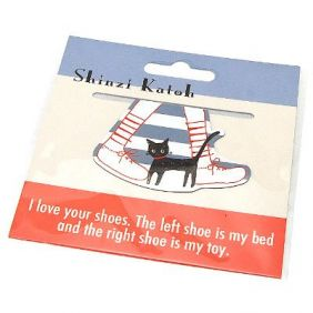 Shinzi Katoh Small Magnetic Bookmark - cat walk Design