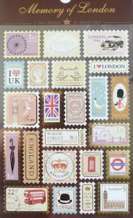 PartyErasers Gold Stamped Stickers - England